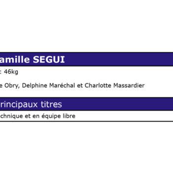 Palmarès de Camille SEGUI