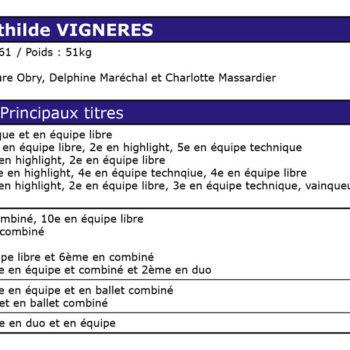 Palmarès de Mathilde VIGNERES