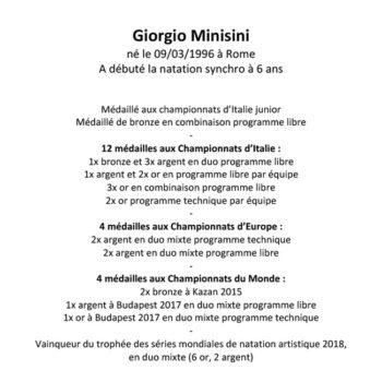 Giorgio Minisini palmarès